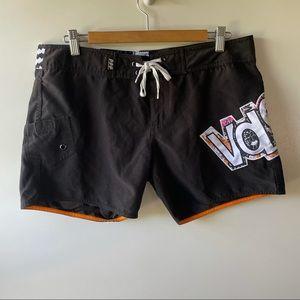 Volcom black board shorts size 11